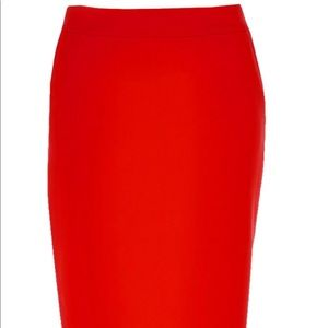 Hugo Boss Red Skirt
